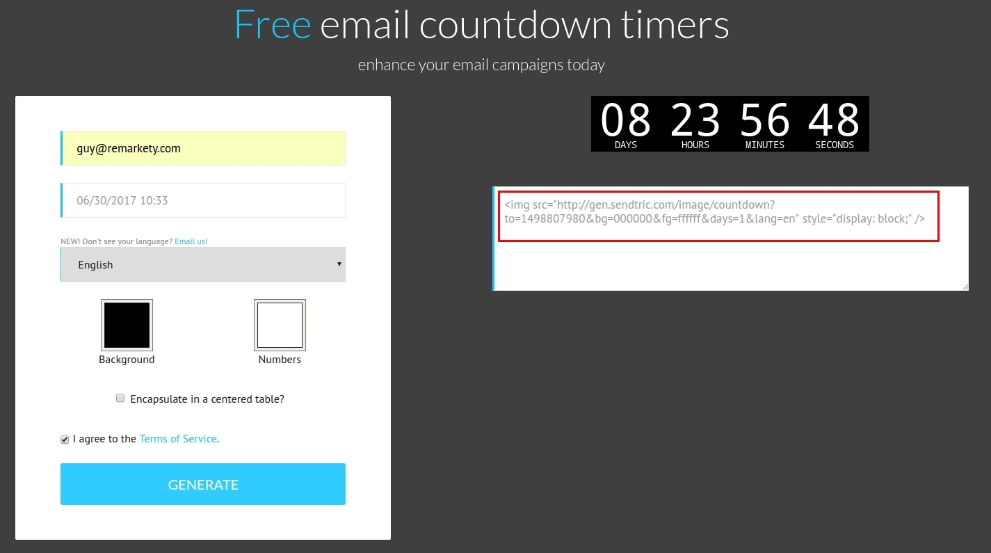 Personalized Countdown Timers in Emails – Remarkety - Support ...