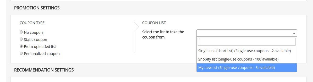 just make sure that you have a coupon block in your email content